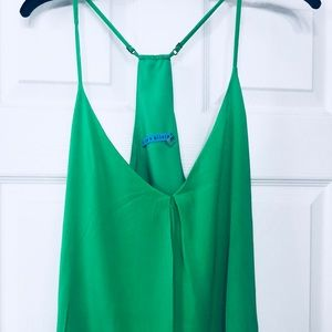 Alice Olivia emerald green top pre owe
